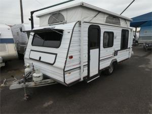 1993 VISCOUNT VOGUE SERIES POP TOP SINGLE AXLE ISLAND DBED